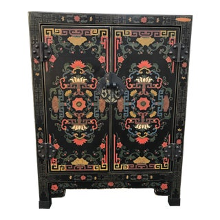 Hand Painted Chinoiserie Cabinet