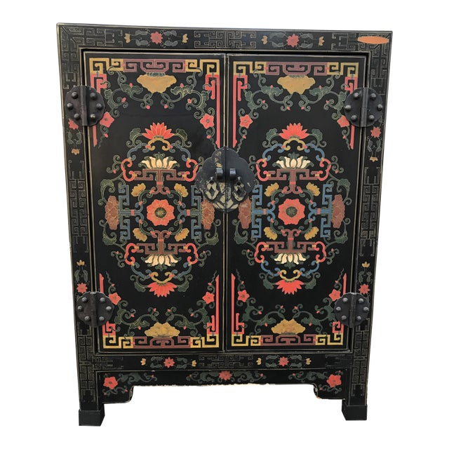 Hand Painted Chinoiserie Cabinet - Image 1 of 10