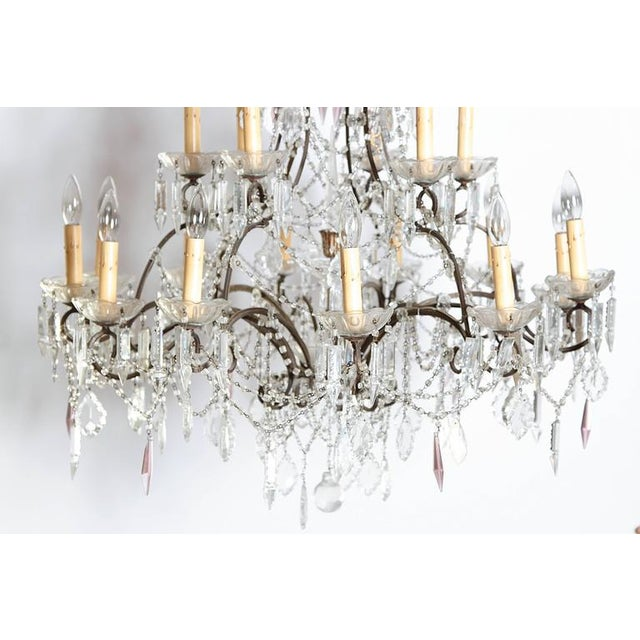 19th Century Italian 18-Light Crystal Chandelier - Image 6 of 10