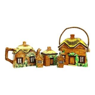 Cottage-Ware Ceramic Tea Service- Set of 5