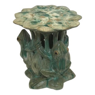 Frog Porcelain Glazed Garden Seat
