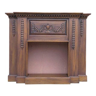 Carved Electric Heater Mantel