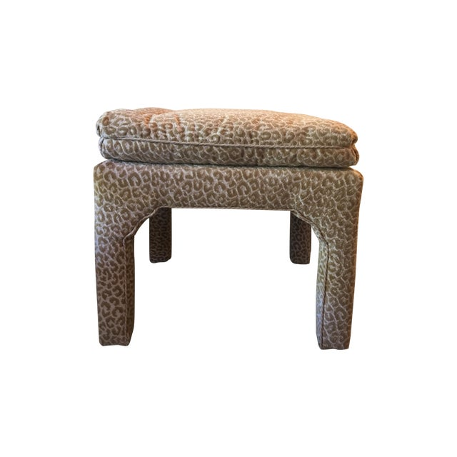Scalamandre Leopard Print Bench/Ottoman - Image 1 of 5