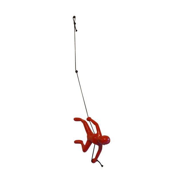 Red Climbing Man Wall Art - Image 1 of 3