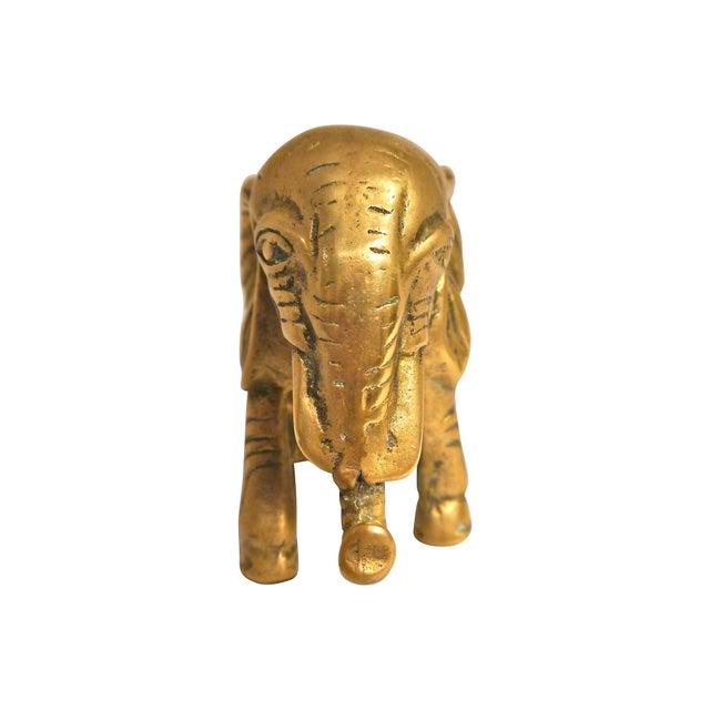1940s Cast Brass Elephant - Image 2 of 4