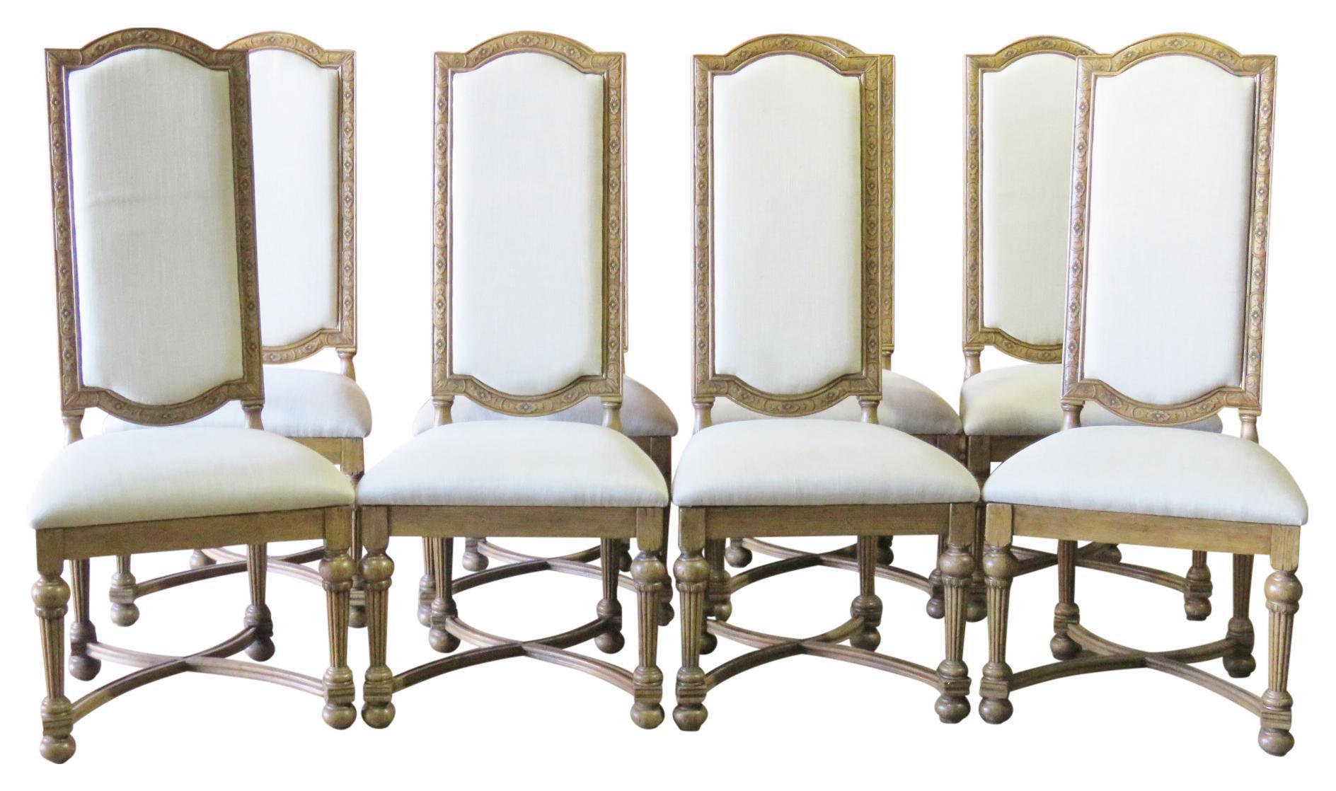 jonathan charles highback dining chairs set of 8