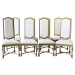 Image of Jonathan Charles Highback Dining Chairs - Set of 8