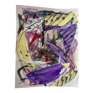 Original Erik Sulander Abstract #30 Ink/Collage on Paper