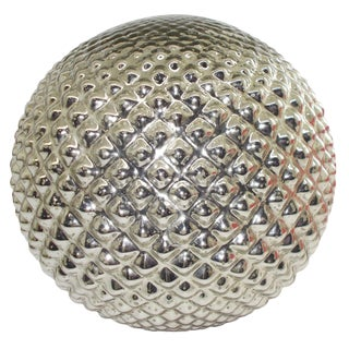 Textured Mercury Glass Sphere