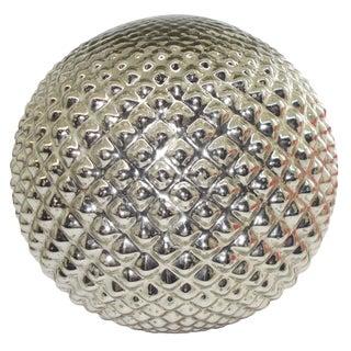 Textured Mercury Glass Sphere