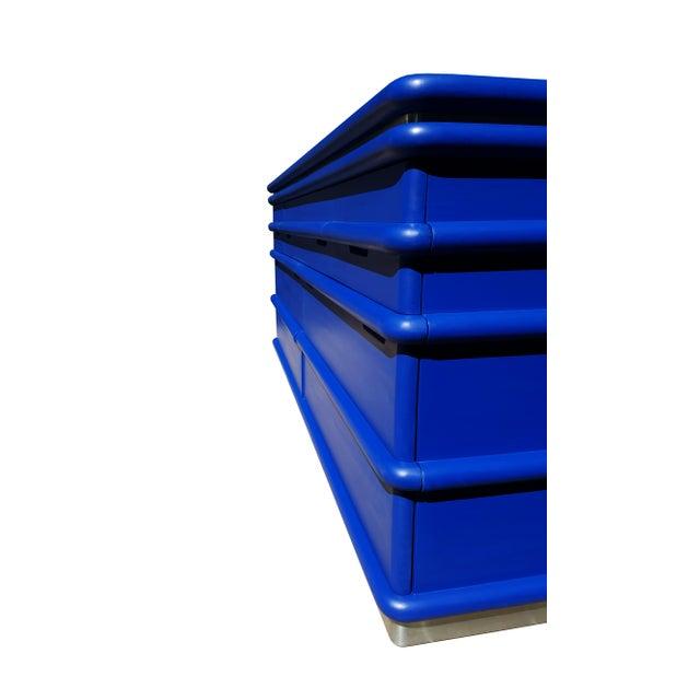 Mid-Century Modern Art Deco Blue Klein Jay Spectre Dresser - Image 6 of 6