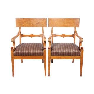 Danish Regency Klismos Chairs - a Pair