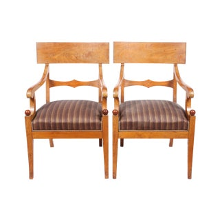 Danish Regency Klismos Chairs - a Pair