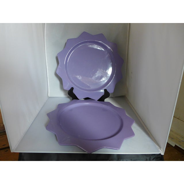 Purple Ceramic Serving Platters - A Pair - Image 2 of 6