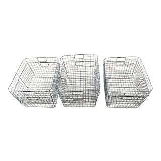 West Elm Wire Mesh Rectangle Baskets - Set of 6