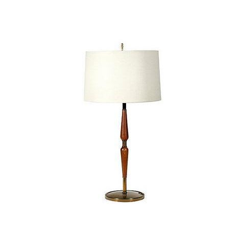 Image of 1960s Laurel Style Walnut Lamps - A Pair