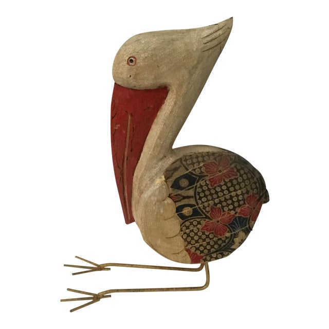 Image of Wooden Pelican Decorative from Bali