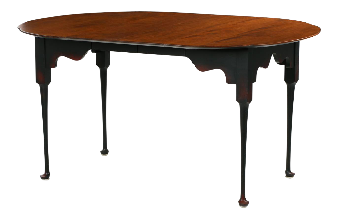 Queen Anne Tiger Maple Dining Table