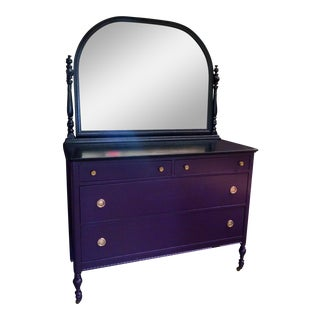 1950s Vintage Dresser With Mirror