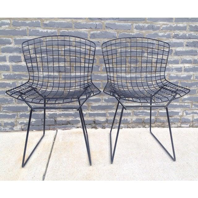 Harry Bertoia Black Side Chairs - Pair - Image 3 of 7