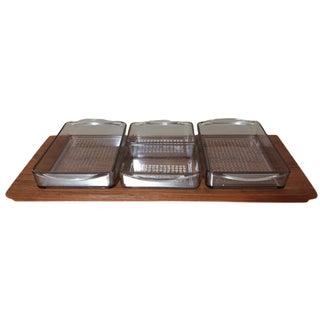 Vintage Danish Luthje Appetizer Tray