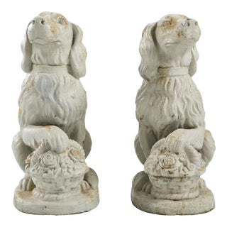 Cast Iron Spaniels, Pair