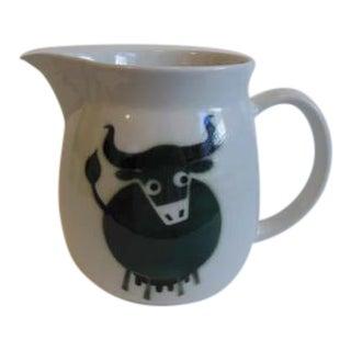 Vintage Arabia Bull Cow Pitcher Kaj Franck - Image 1 of 6