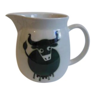 Vintage Arabia Bull Cow Pitcher Kaj Franck