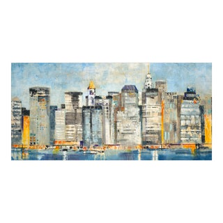 """Waterfront Skyline"" Painting by Jill Martin"