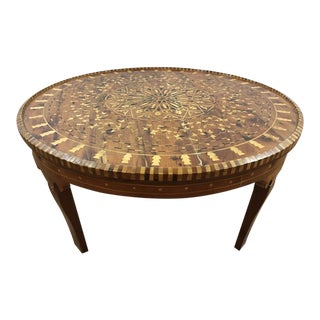 Antique Maple and Mahogany Marquetry Coffee Table