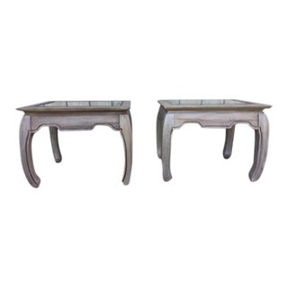 Ming Style Wood End Tables - A Pair