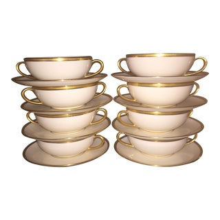 Marshall Fields Lenox Cream Soup Cups - Set of 8