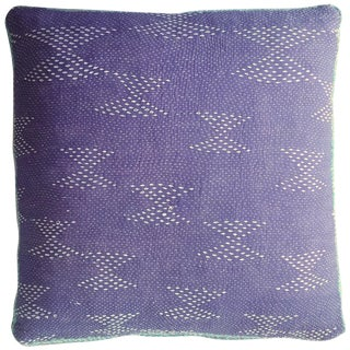 Kantha-Stitched Floor Cushion