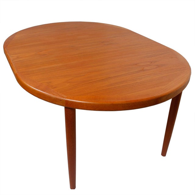 Danish Teak Round/Oval Dining Table & Pads
