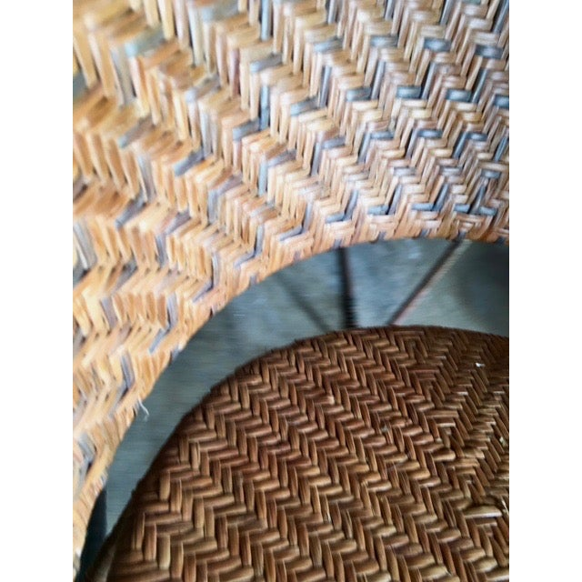 French Woven Side Chairs - A Pair - Image 5 of 5
