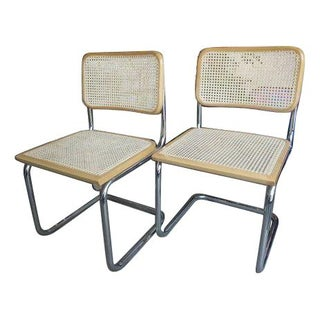 Cesca Style Cane Side Chairs - A Pair