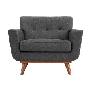 Tufted Gray Armchair