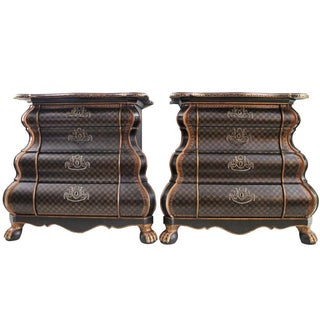 William Switzer Bombe Commodes - a Pair
