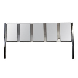 Ob Solie Ello King Mirrored & Chrome Headboard