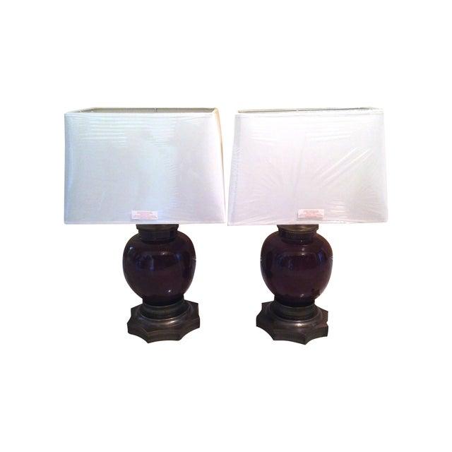 Antique Sang De Boeuf Red Lamps - A Pair - Image 1 of 7