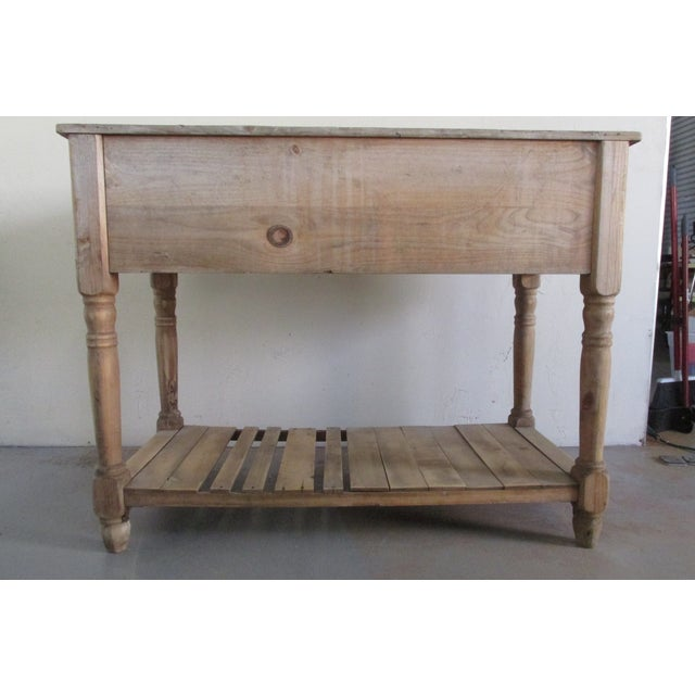 Primitive Pine Console Table - Image 5 of 6