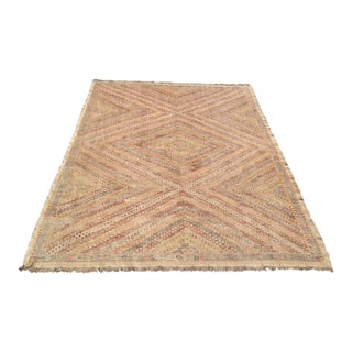 "Vintage Turkish Kilim Rug - 6'11"" X 8'11"""