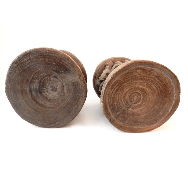 Image of Bamileke Cameroon Low Stools - Pair
