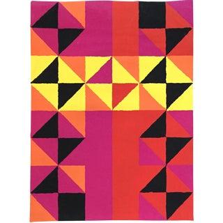 Mid Century 1960 Abstract Silkscreen Sidney Budnick