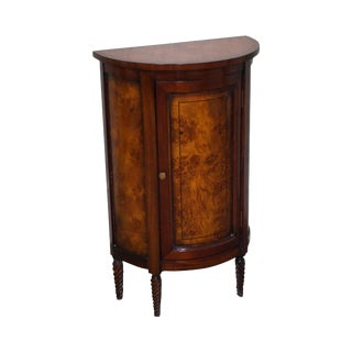 Small Burl Wood Demilune Console