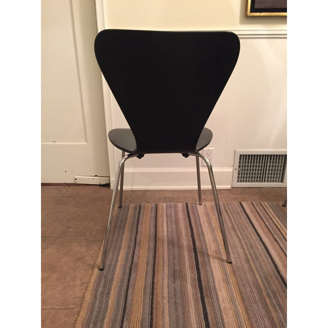 Black Butterfly Dining Chairs - Set of 6 - Image 5 of 9