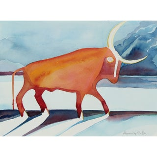Taurus Watercolor Study by A. McGaffey