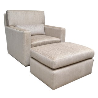Contemporary Lounge Chair with Ottoman