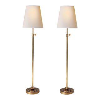 Circa Lighting Visual Comfort Bryant Brass Table Lamps - A Pair