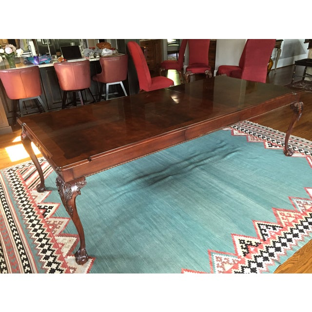 Henredon Dining Table With 2 Leaves - Image 2 of 9